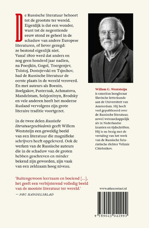 Willem G. Weststeijn,Russische literatuurgeschiedenis deel 1