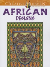 Marty Noble Creative Haven African Designs Coloring Book
