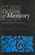 Nolden, Thomas In Lieu of Memory