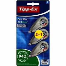 , Correctieroller Tipp-ex 5mmx6m ecolutions pure mini blister 2+1 gratis