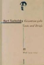 Tucholsky, Kurt Briefe 1933 - 1934