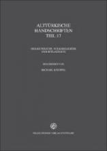 Verzeichnis der orientalischen Handschriften in Deutschland 13.25. Alttürkische Handschriften