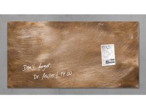 , glasmagneetbord Sigel Artverum 910x460x15mm brons