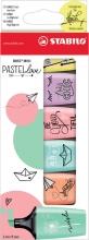 , Markeerstift STABILO Boss Mini Pastellove blister à 6 kleuren