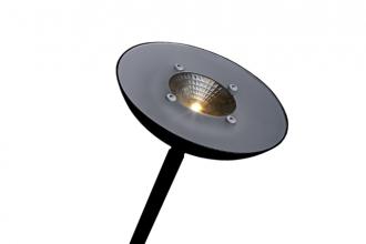 , Vloerlamp Hansa led First zwart staal