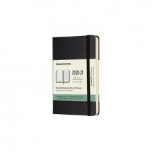 , Moleskine 18 MND Agenda - 2020/21 - Wekelijks - Pocket (9x14 cm) - Zwart - Harde Kaft