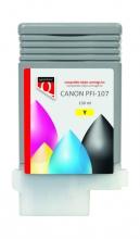 , INKCARTRIDGE QUANTORE CANON PFI-107 GEEL