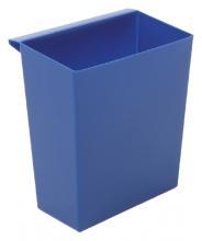 , Inzetbak voor vierkante tapse papierbak blauw