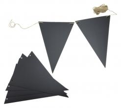 , Krijtbord securit vlaggen set 14 stuks zwart + 1 marker