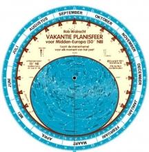 Rob Walrecht , Nederlandse vakantie-planisfeer voor Midden-Europa (50 graden)