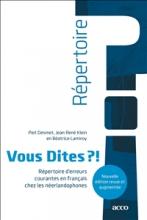 Béatrice Lamiroy Piet Desmet  Jean René Klein, Vous Dites ?!