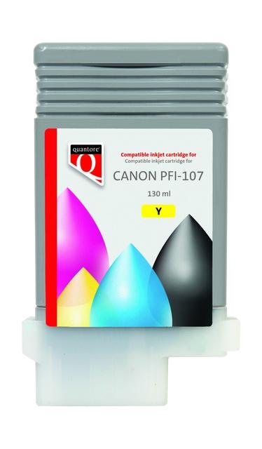 ,Inktcartridge Quantore Canon PFI-107 geel