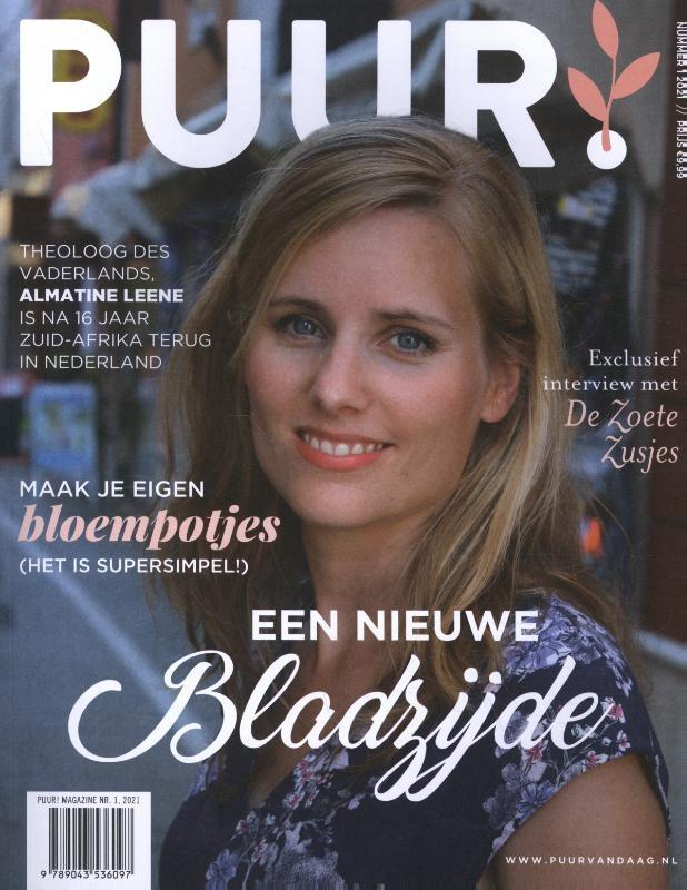 ,PUUR! Magazine nr. 1, 2021 - Een nieuwe bladzijde