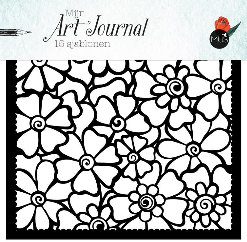 ,Mijn Art Journal 15 sjablonen