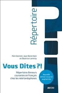 Piet Desmet, Jean René Klein, Béatrice Lamiroy,Vous Dites ?!