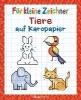 Pautner, Norbert,Für kleine Zeichner - Tiere auf Karopapier