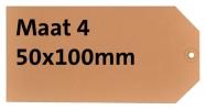 ,<b>Label karton nr4 200gr 50x100mm chamois 1000stuks</b>