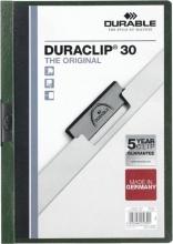 , Klemmap Durable 2200 A4 3mm donkergroen