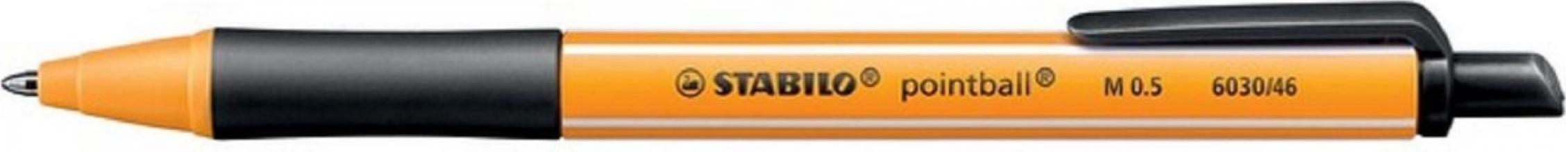 , Balpen STABILO Pointball 6030/46 zwart