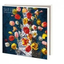 Wmc884 , Notecards 10 stuks bloemstilleven met tulpenvaas roman reisinger