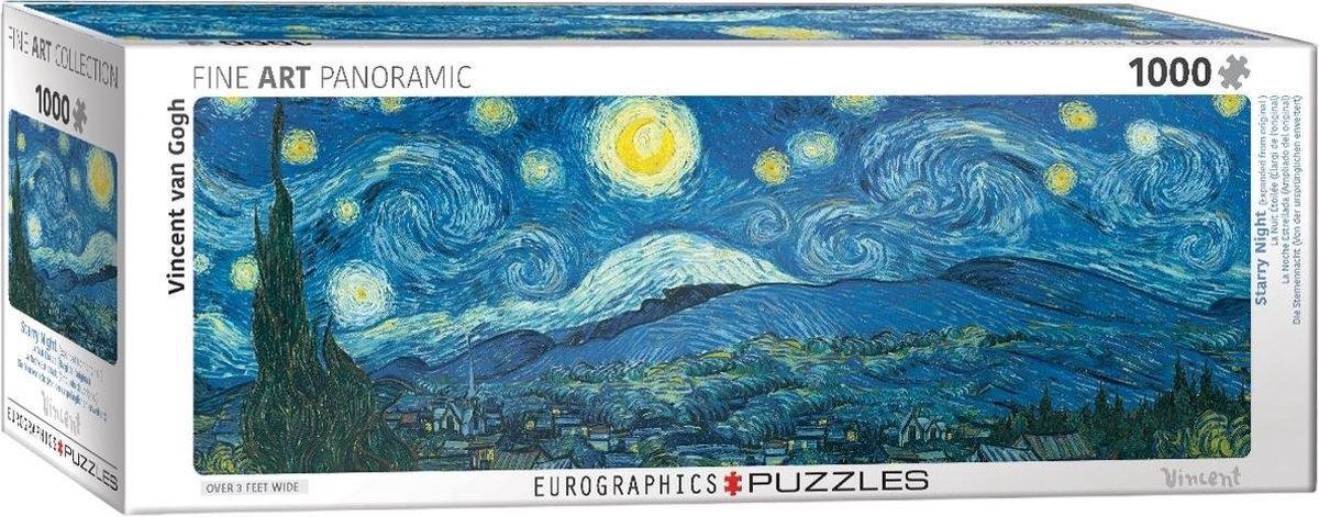 Eur-6010-5309,Puzzel starry night - vicent van gogh- panorama 1000 stuks