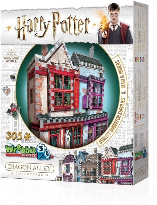W3d-0509,Wrebbit 3d puzzle - harry potter quality quidditch supplies & slug jiggers - 305