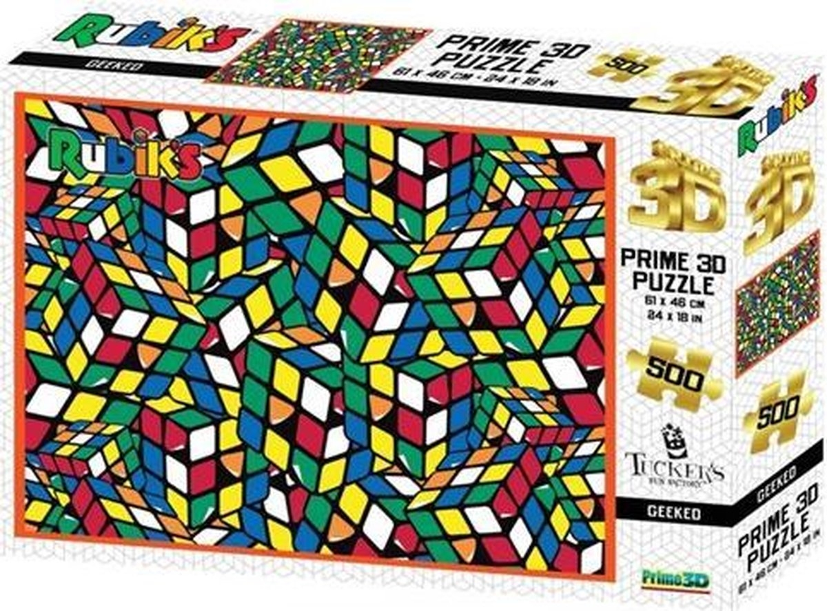 Tff-101091,Puzzel 3 d - rubiks geeked- 500 stuks