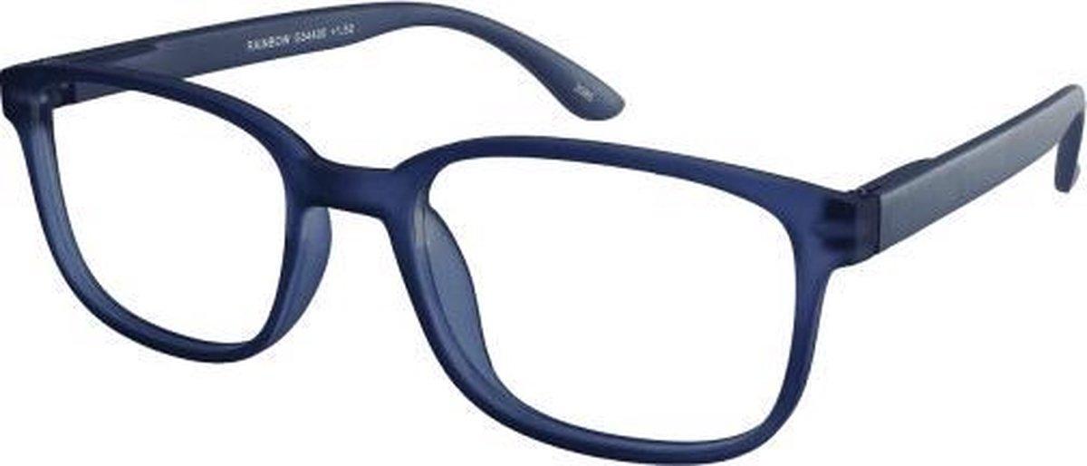 ,Leesbril +2.00 regenboog blauw