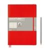 <b>Lt349306</b>,Leuchtturm notitieboek composition softcover 178x254 mm lijn rood