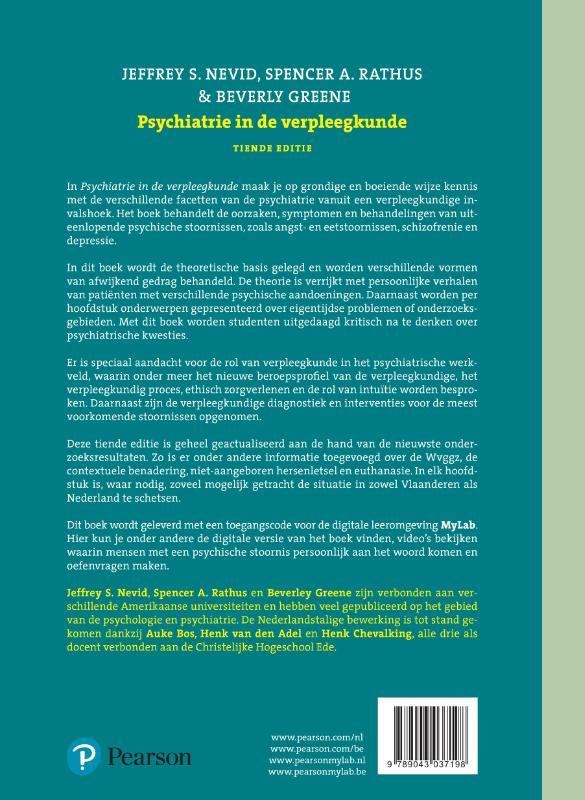 Jeffrey S. Nevid, Spencer A. Ratrhus, Beverly Greene,Psychiatrie in de verpleegkunde