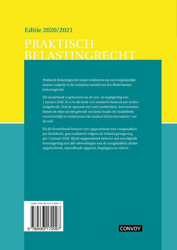 C.J.M. Jacobs,Praktisch Belastingrecht 2020/2021 Theorieboek