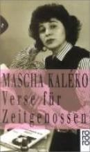 Kaleko, Mascha Verse fr Zeitgenossen