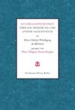 Enzensberger, Hans M Ein Philosophenstreit ber die Erziehung und andere Gegenstnde