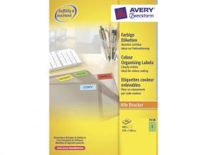 , etiket Avery ILK 105x148mm 100 vel 4 etiketten per vel groen