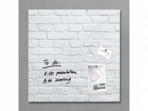 , glasmagneetbord Sigel Artverum 480x480x15mm White Klinker