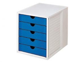, ladenkast HAN met 5 gesloten laden grijs / blauw