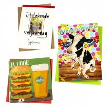 , Wenskaart Paperclip navulset verjaardag humor set à 12 kaarten