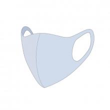 , Mondkapje wasbaar lichtblauw