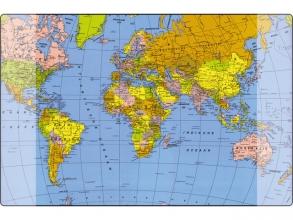 , Onderlegger Kangaro 38x58cm wereldkaart