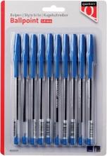 , Balpen Quantore stick blauw blister