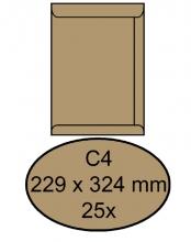 , Envelop Clevermail akte C4 229x324mm 90gr bruin 25 stuks