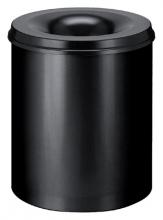 , Papierbak met vlamdover Vepabins 80liter 47cm Zwart