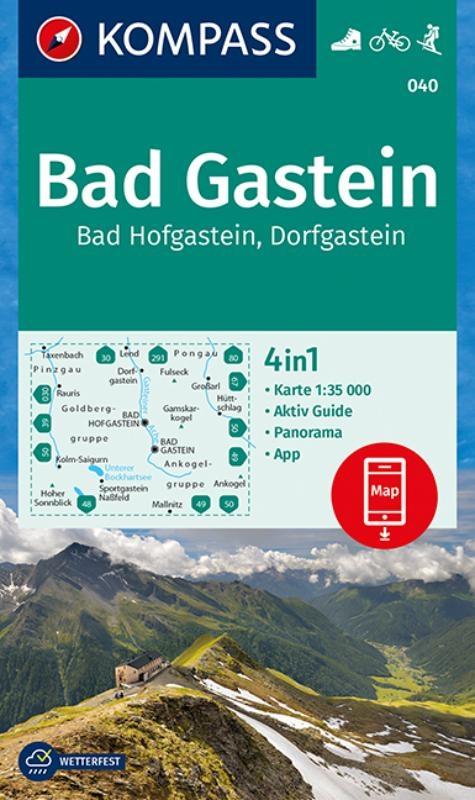 ,Bad Gastein, Bad Hofgastein, Dorfgastein 1 : 35 000