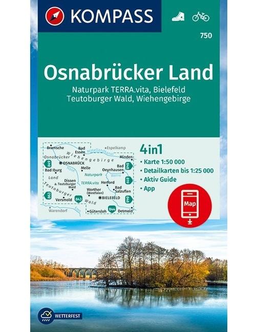 KOMPASS-Karten GmbH,KOMPASS Wanderkarte Osnabrücker Land 1 : 50 000