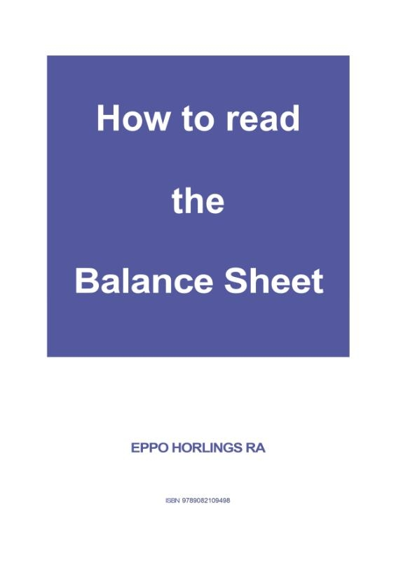 Eppo Horlings,How to read the Balance Sheet