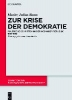Bonn, Moritz Julius,Zur Krise der Demokratie