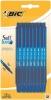 ,<b>Balpen Bic Soft Feel Clic Grip blauw medium blister à 15st</b>