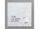 ,<b>glasmagneetbord Sigel Artverum 480x480x15mm White Klinker</b>