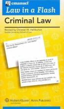 Halliburton, Christian M. Emanuel Law in a Flash for Criminal Law