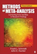 Frank L. Schmidt,   John E. Hunter Methods of Meta-Analysis